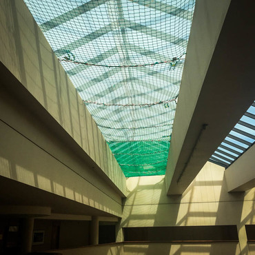 Safety nets to enable skylight replacement